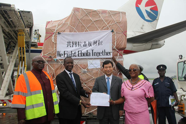 Chinese medical supplies arrive in Ebola-affected Sierra Leone