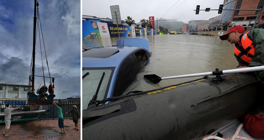 Typhoon Merbok slashes its way into S China