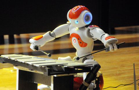 Robots strut their stuff in NE China