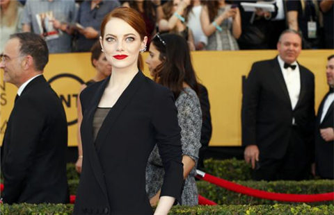Red carpet of 21st annual SAG Awards in Los Angeles