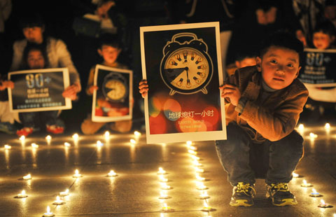 Students show support for Earth Hour
