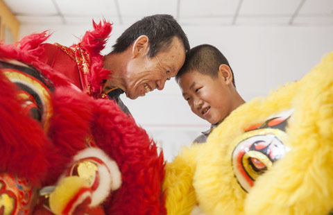 Three generations keep traditional lion dance alive