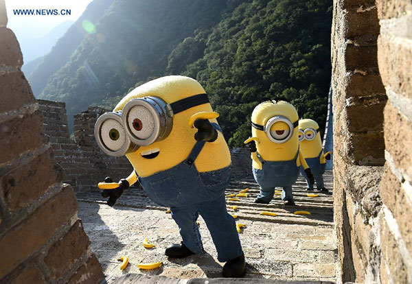 'Minions' conquer the Great Wall