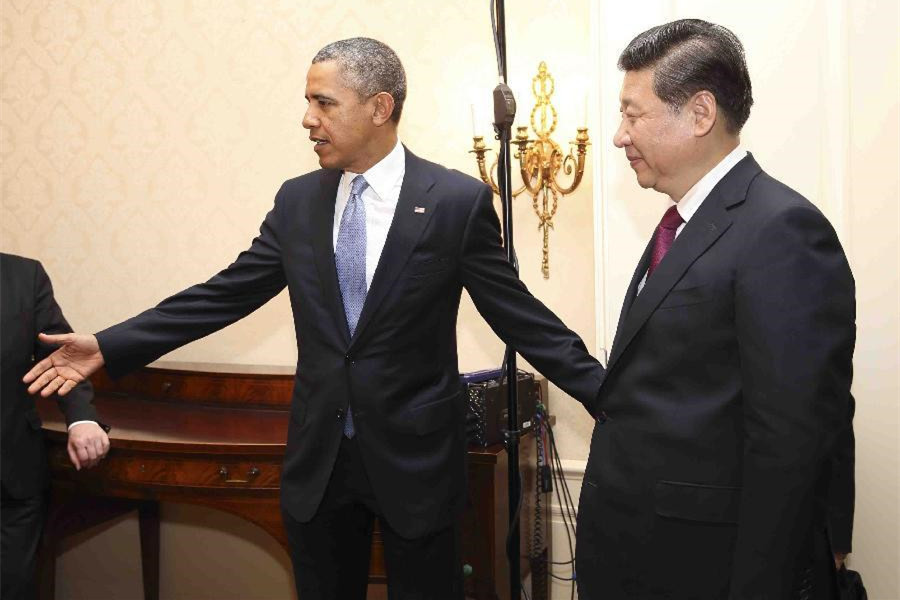 Four major meetings between Xi and Obama since 2013