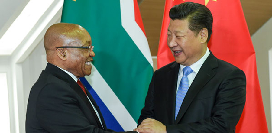 China, S. Africa eye greater role for BRICS in intl affairs