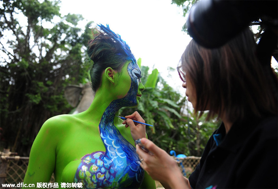 Bodypainting appeals to protect animals