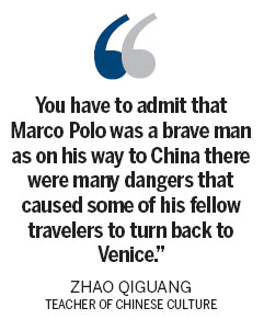 In marco polo's footsteps