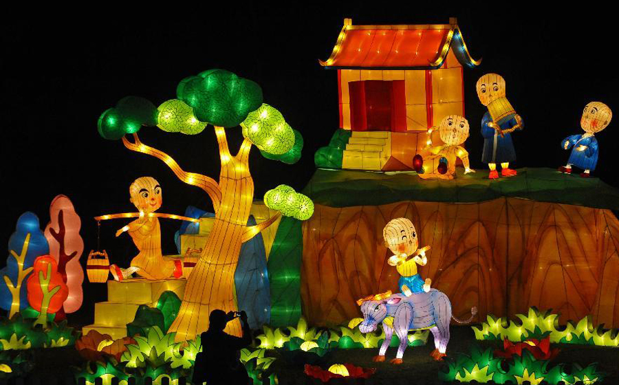 Garden By The Bay Mid Autumn Festival 2016 mid-autumn festival celebrated in singapore[1]|chinadaily.cn